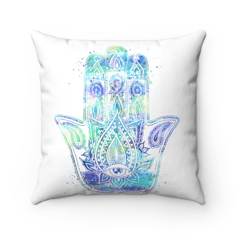 Hamsa Hand Square Pillow - Zuzi's