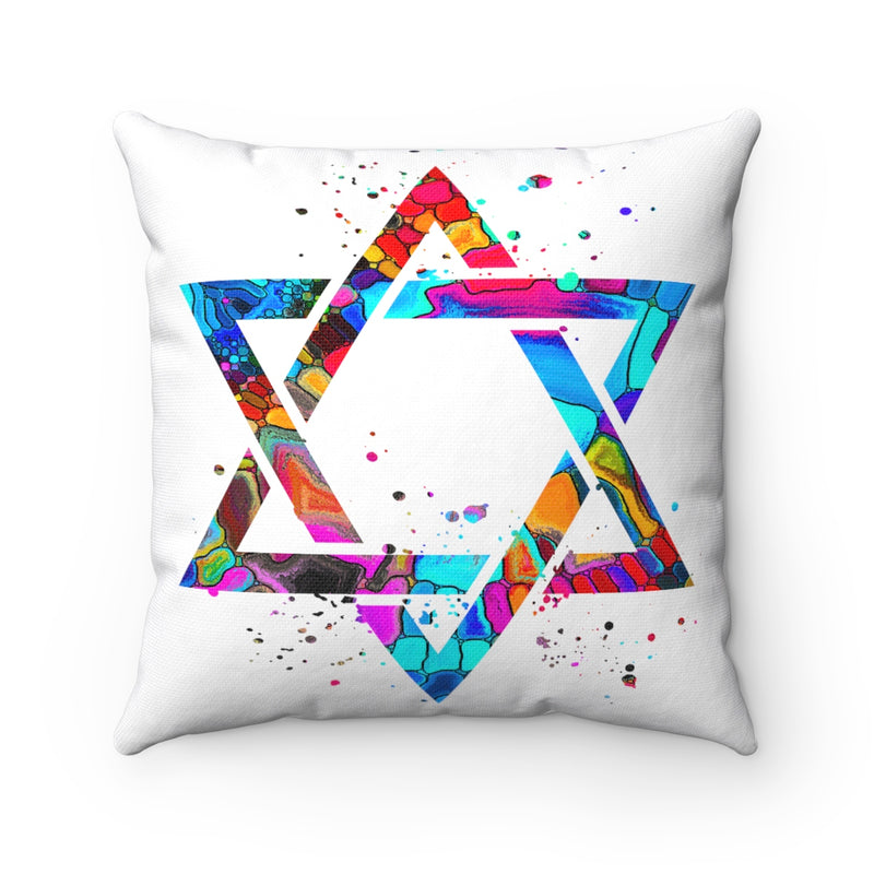 Star Of David Square Pillow - Zuzi's