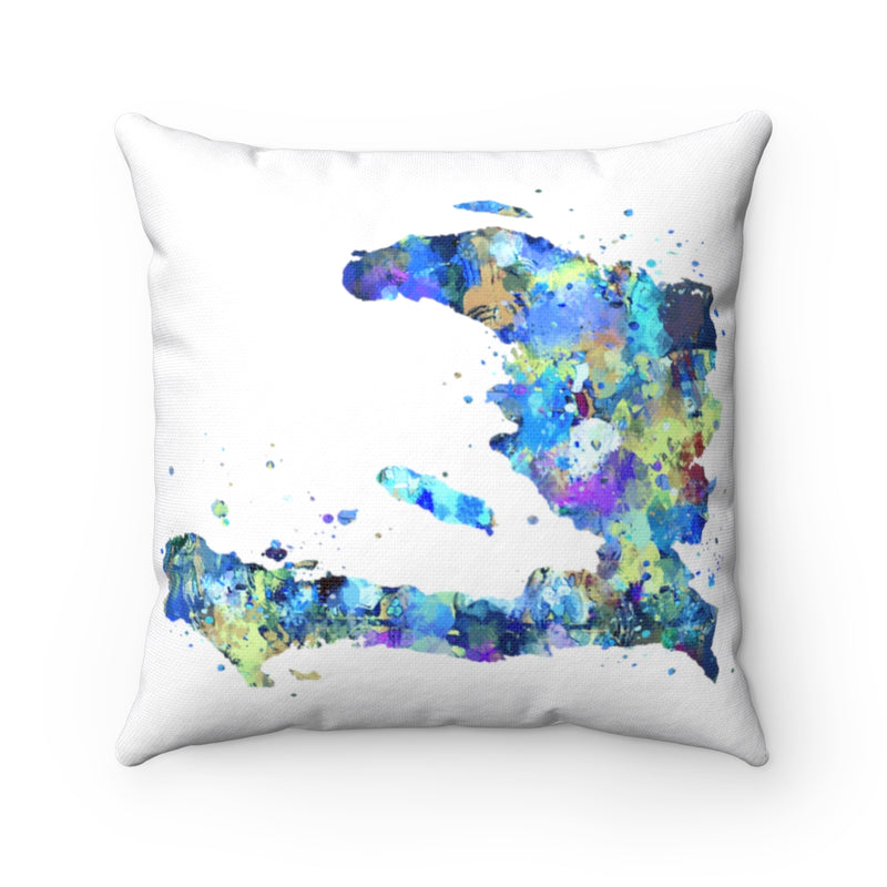 Haiti Map Square Pillow Cover - Zuzi's