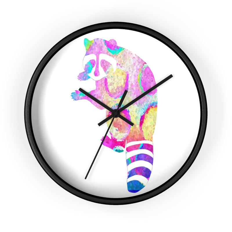 Watercolor Raccoon Wall Clock - Zuzi's