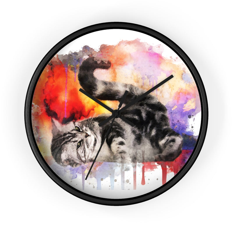 Watercolor Kitten Wall Clock - Zuzi's