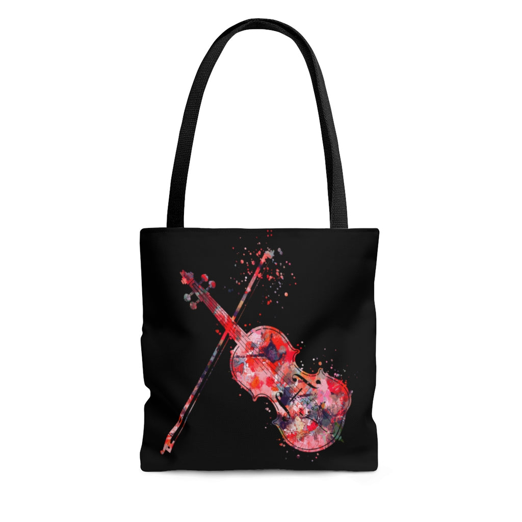 Watercolor Violin Tote Bag