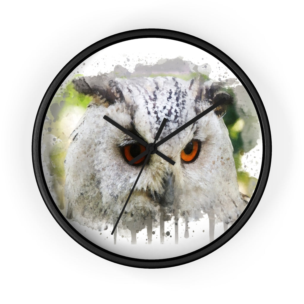 Watercolor Owl Wall Clock - Zuzi's