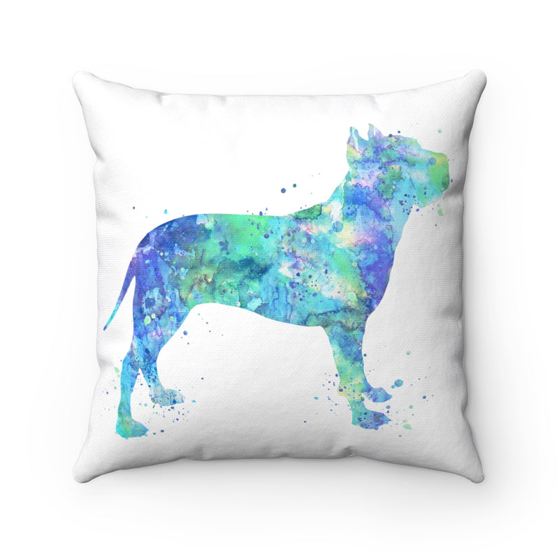 American Staffordshire Terrier Square Pillow - Zuzi's