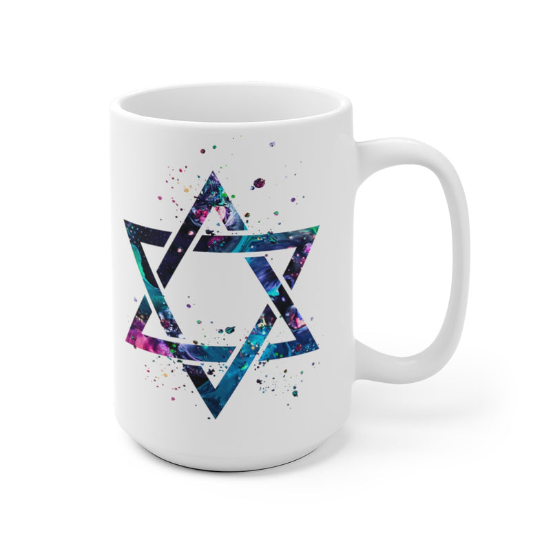 Star Of David Mug - 11 oz, 15 oz - Zuzi's