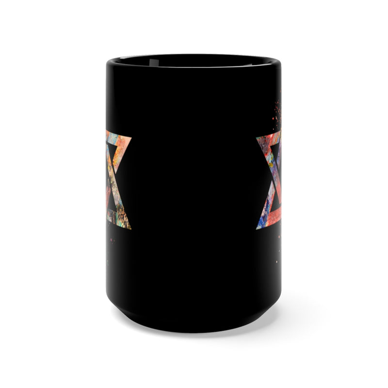 Star Of David  Black Mug 15oz - Zuzi's