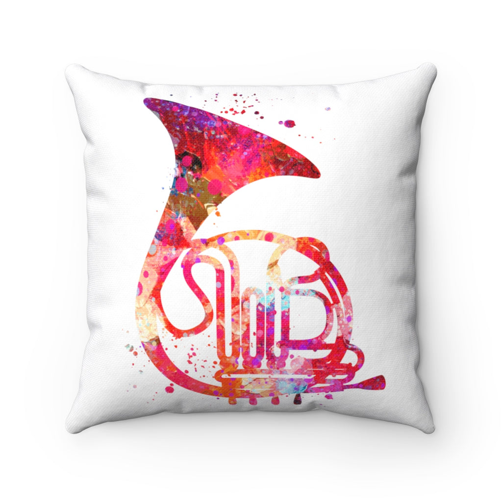 French Horn Square Pillow - Zuzi's