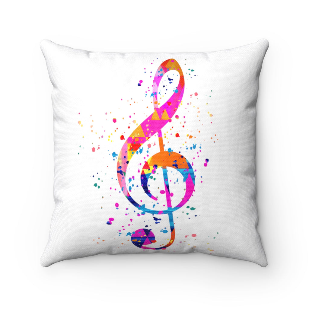 Treble Clef Square Pillow