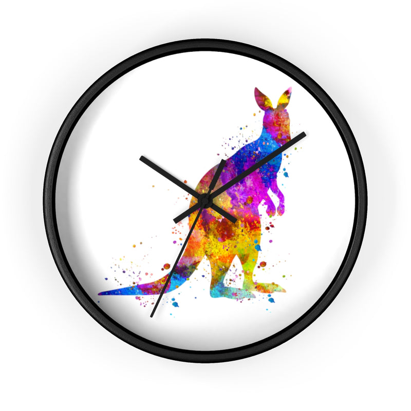 Watercolor Kangaroo Wall Clock - Zuzi's
