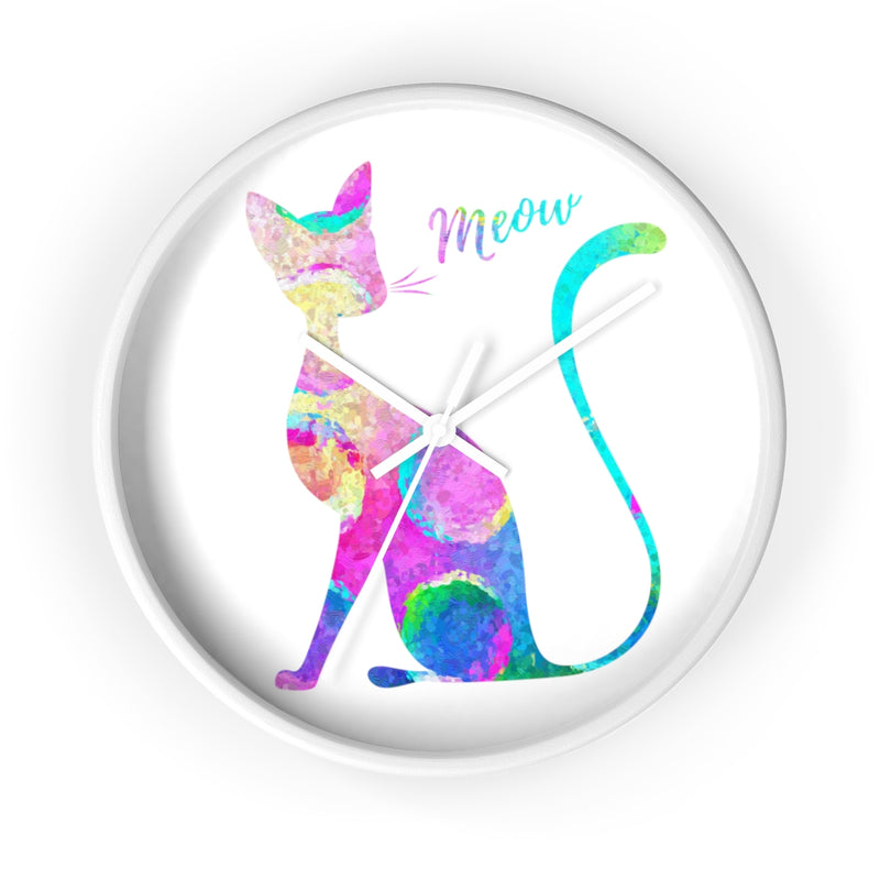 Watercolor Cat Wall Clock - Zuzi's
