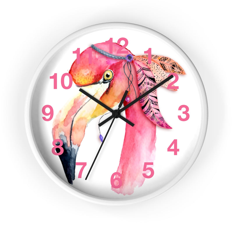 Watercolor Flamingo Wall Clock - Zuzi's