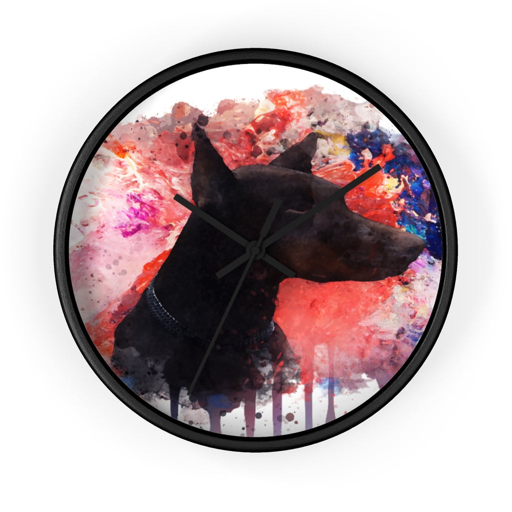 Watercolor Doberman Wall Clock - Zuzi's