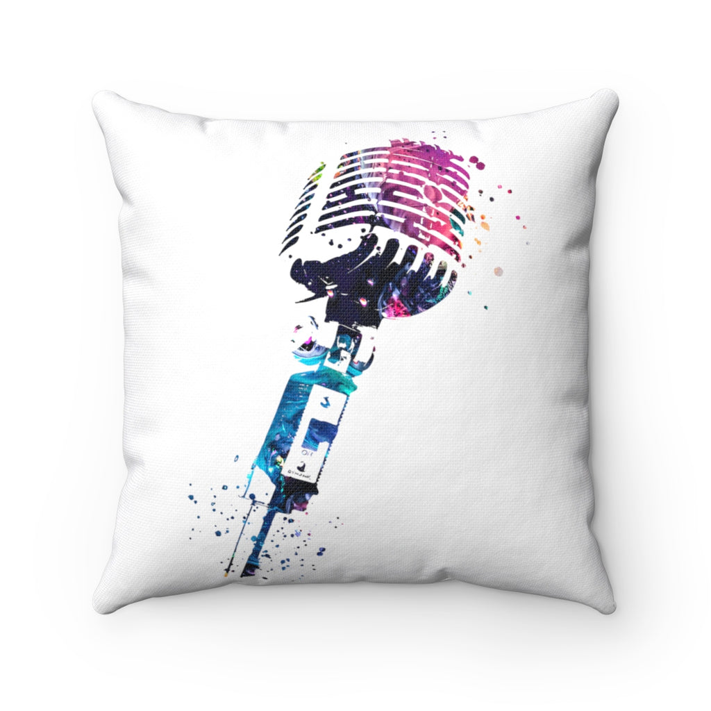 Microphone Square Pillow - Zuzi's
