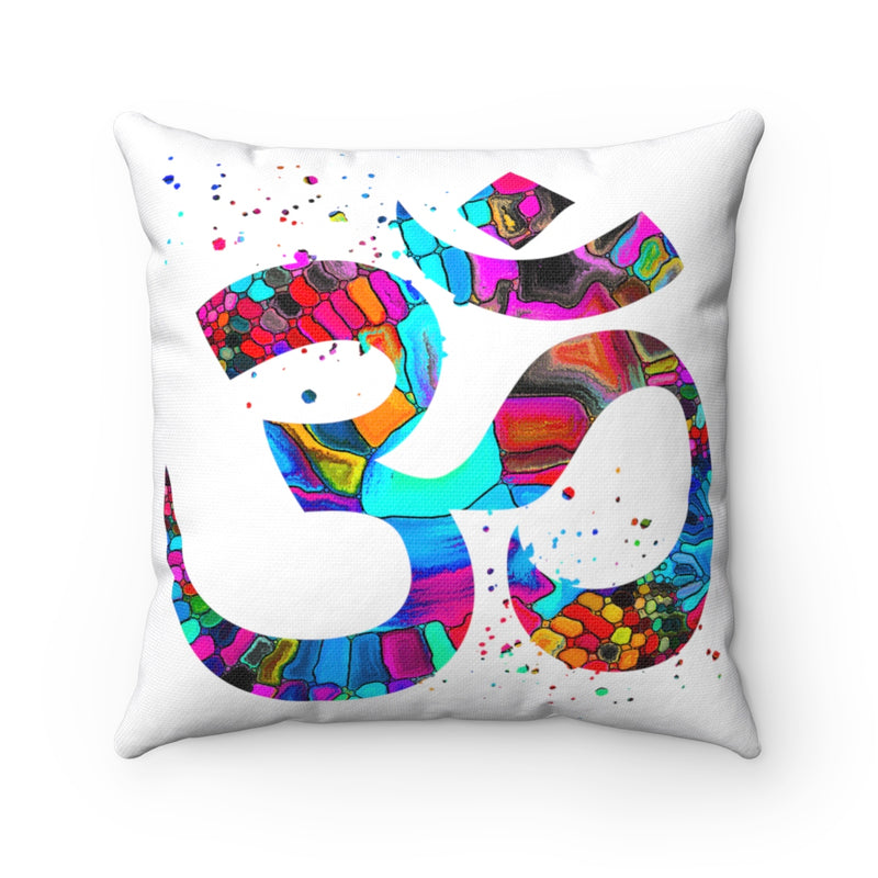 Om Symbol Square Pillow - Zuzi's