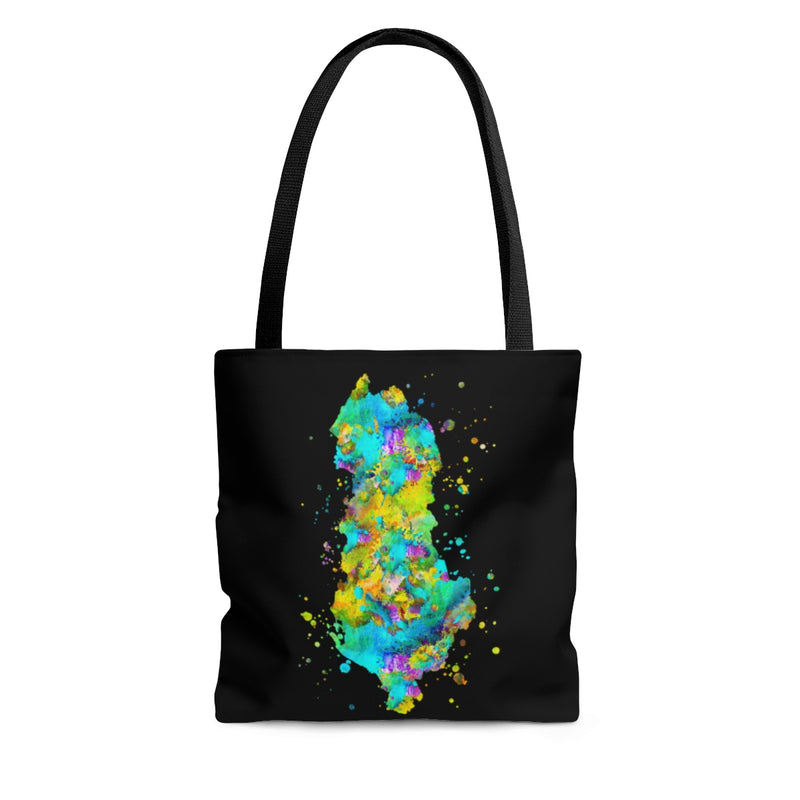 Watercolor Albania  Map Tote Bag - Zuzi's