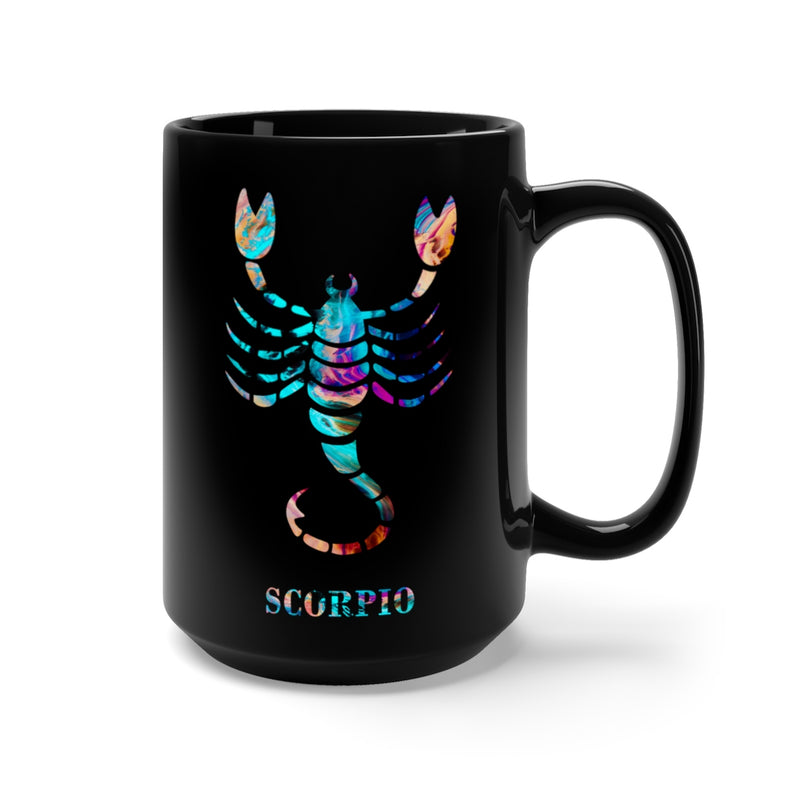 Scorpio Zodiac Sign Black Mug 15oz - Zuzi's