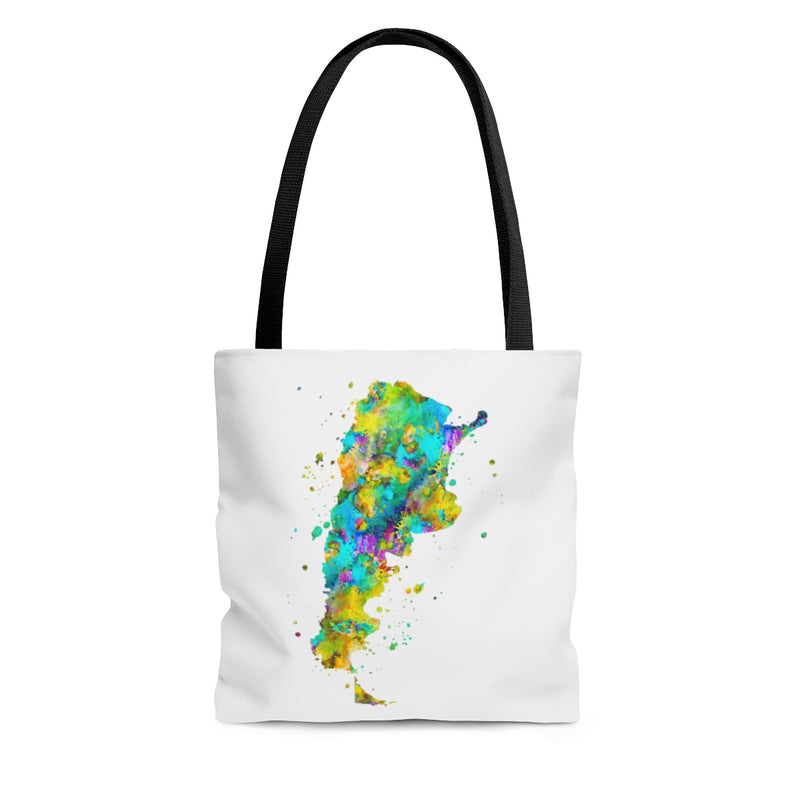 Watercolor Argentina  Map Tote Bag - Zuzi's
