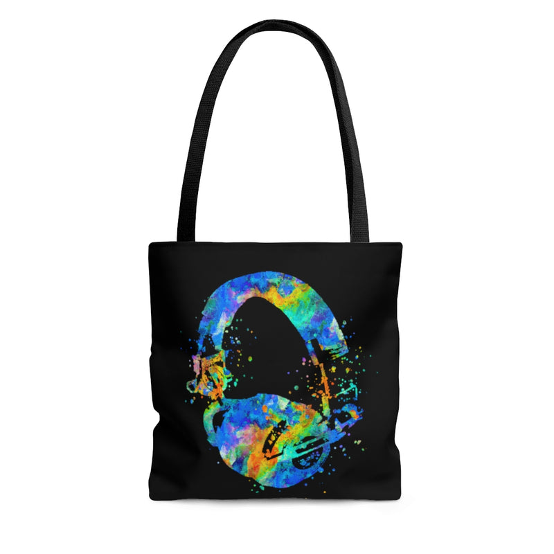 Watercolor Headphones Tote Bag - Zuzi's