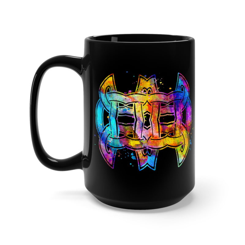 Celtic Knot Black Mug 15oz - Zuzi's