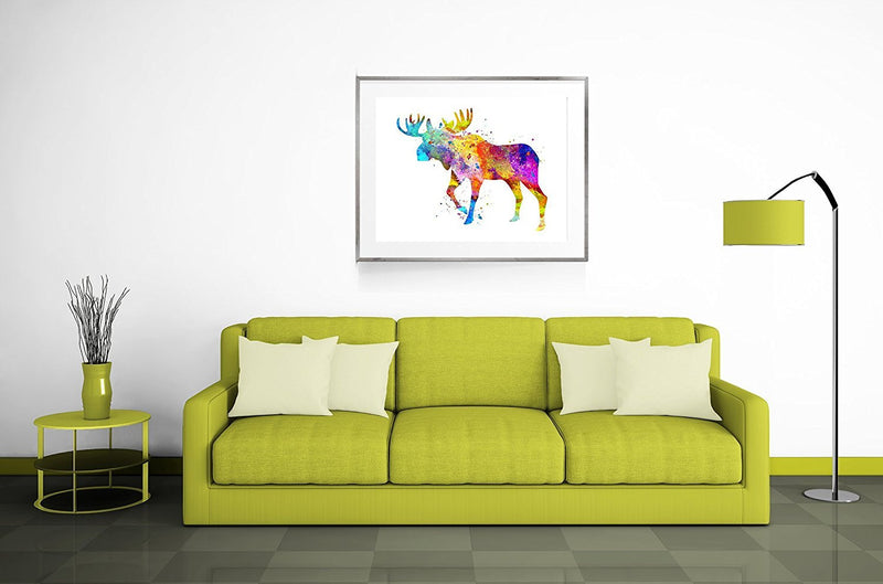 Moose Watercolor Art Print - Unframed - Zuzi's