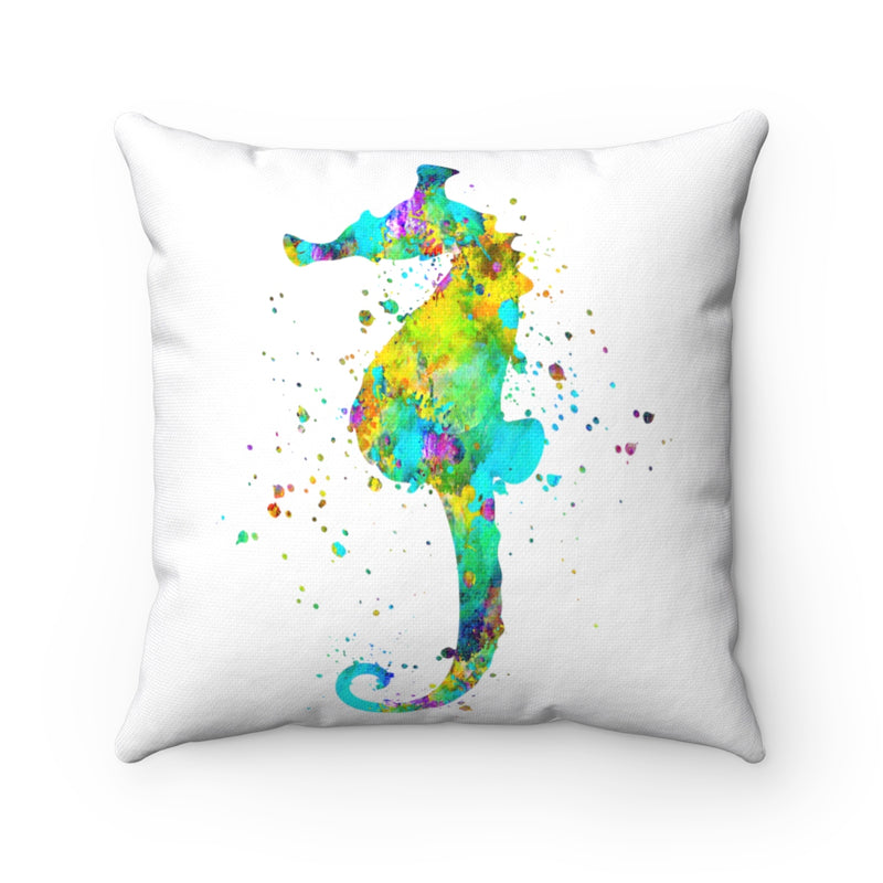 Colorful Sea Horse Square Pillow - Zuzi's
