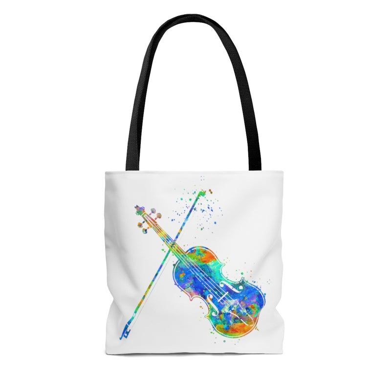 Watercolor Violin Tote Bag - Zuzi's