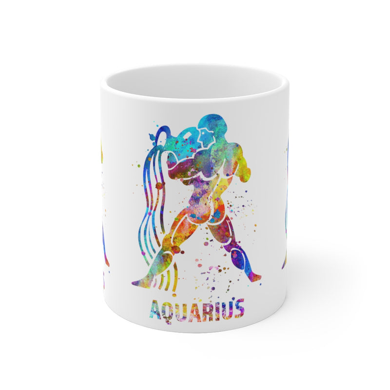 Aquarius Zodiac Sign Mug - 11 oz, 15 oz - Zuzi's