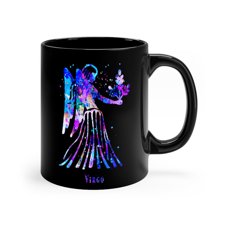 Virgo Zodiac Sign Black Mug 11oz - Zuzi's