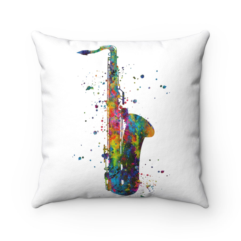 Saxophone Square Pillow - Zuzi's