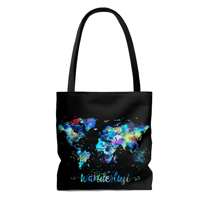 Wanderlust World Map Tote Bag - Zuzi's