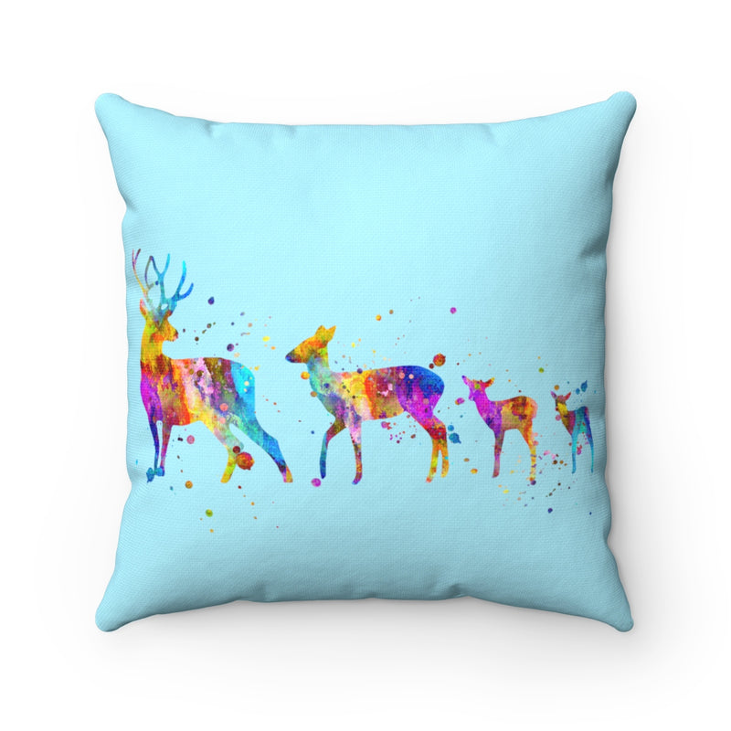 Watercolor Deers Square Pillow - Zuzi's