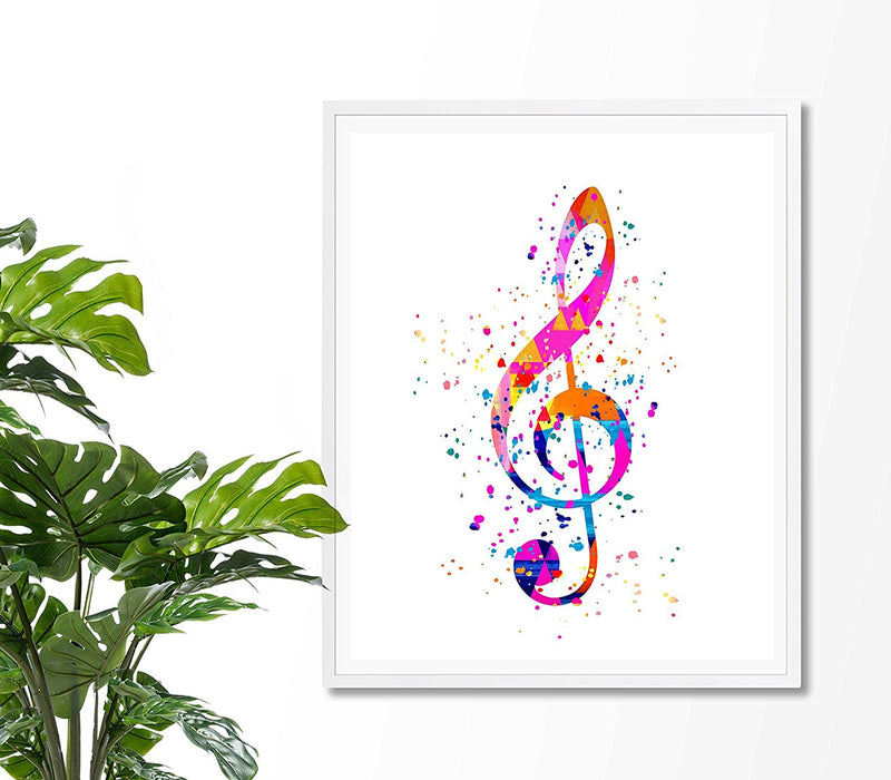 Treble Clef Art Print - -Unframed