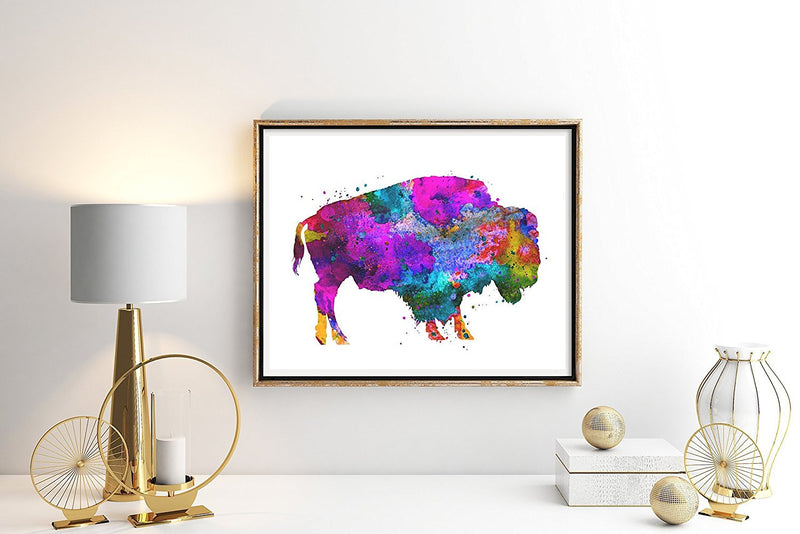 Buffalo Watercolor Art Print - Unframed - Zuzi's