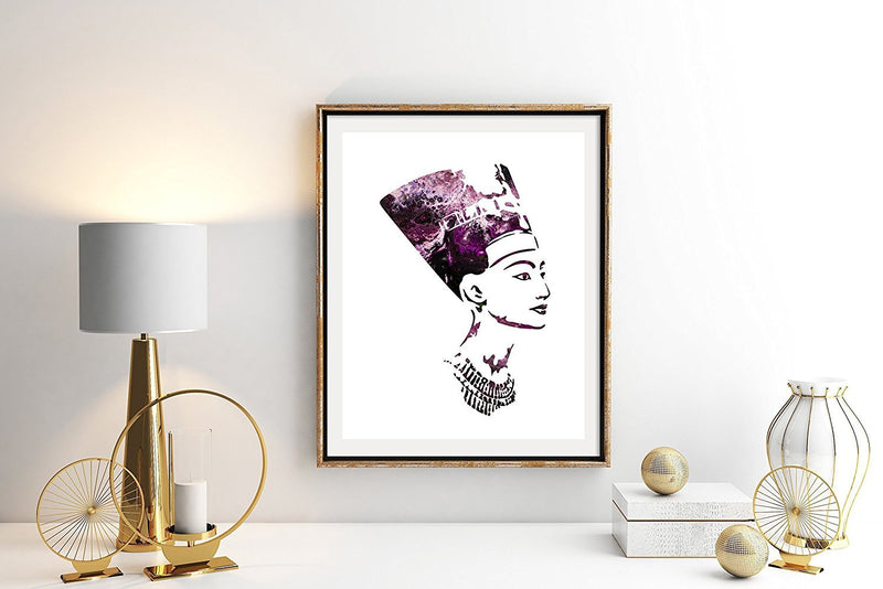 Queen Nefertiti Watercolor Art Print - Unframed - Zuzi's
