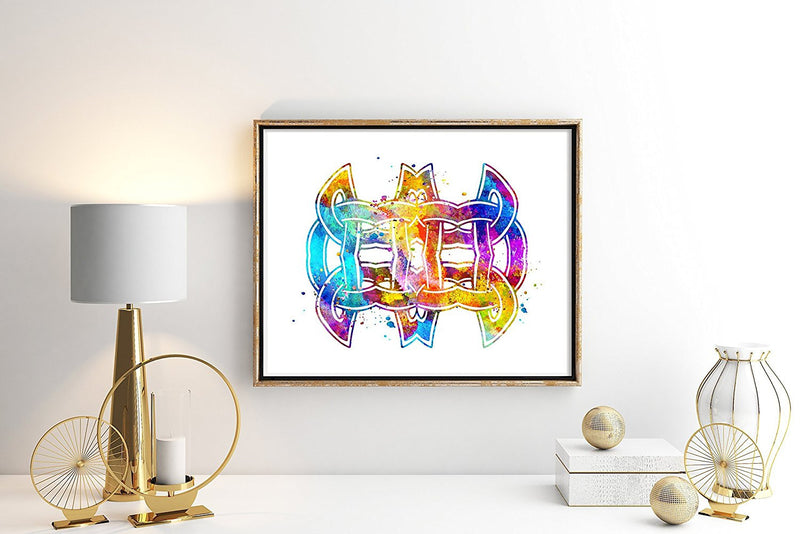Celtic Knot Watercolor Art Print - Unframed - Zuzi's
