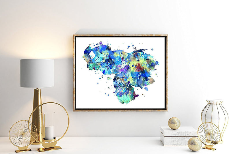 Venezuela Map Art Print - Unframed - Zuzi's