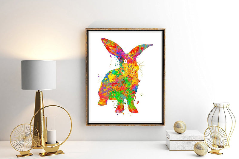 Bunny Rabbit Watercolor Art Print - Unframed - Zuzi's