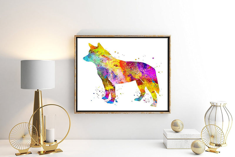 Australian Cattle Dog Watercolor Art Print - Unframed - Zuzi's