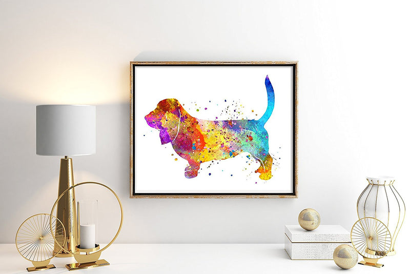 Basset Hound Watercolor Art Print - Unframed - Zuzi's