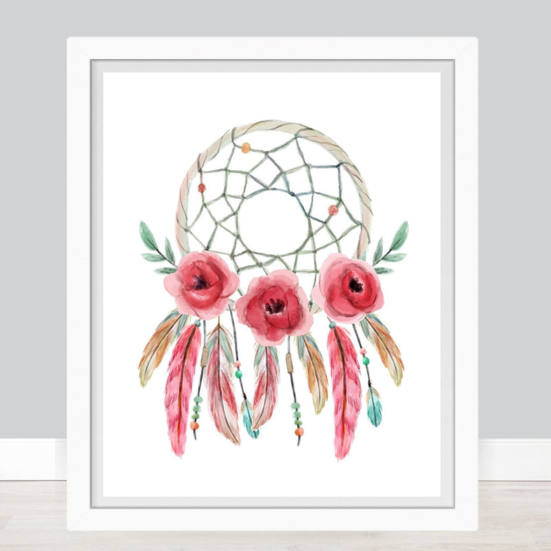 Dreamcatcher Watercolor Art Print - Unframed - Zuzi's