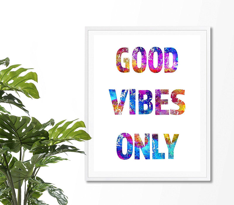 Good Vibes Only Art Print - Unframed - Zuzi's