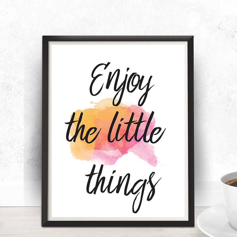 Enjoy The Little Things Quote Art Print - Unframed - Zuzi's