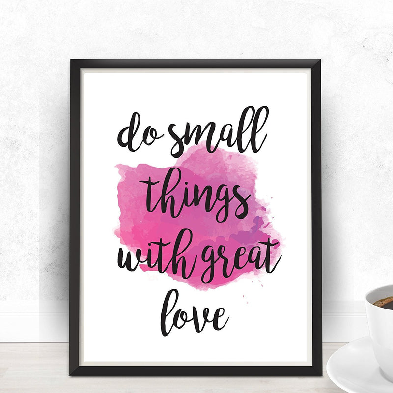 Do small things with great love Mother Teresa Quote Print - Unframed - Zuzi's