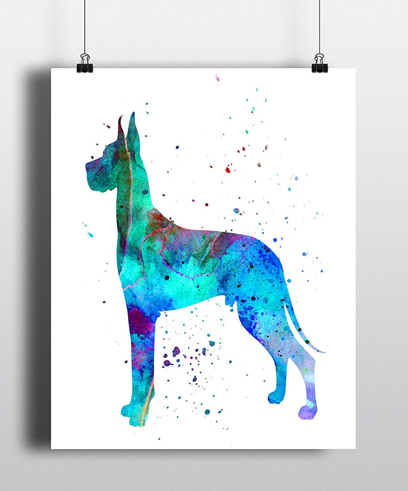 Great Dane Watercolor Art Print - Unframed - Zuzi's