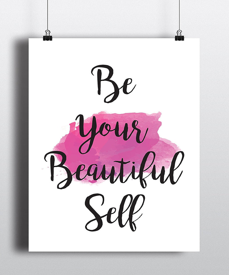 Be Your Beautiful Self Quote Art Print - Unframed - Zuzi's