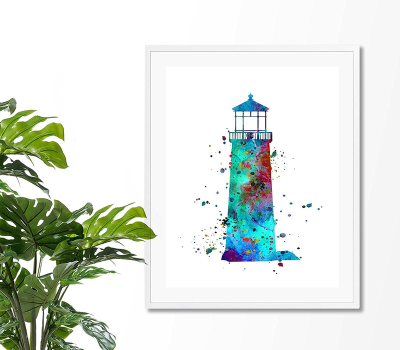 Lighthouse Watercolor Art Print - Unframed - Zuzi's