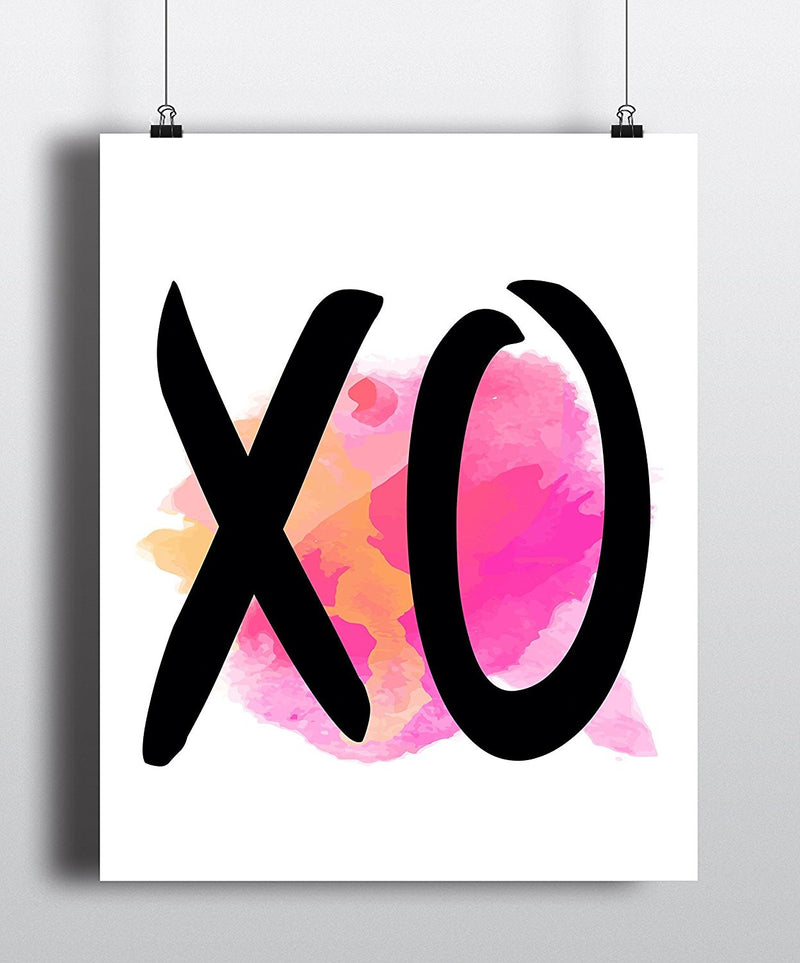 XO Watercolor Art Print - Unframed - Zuzi's