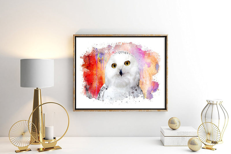 Owl Watercolor Art Print - Unframed