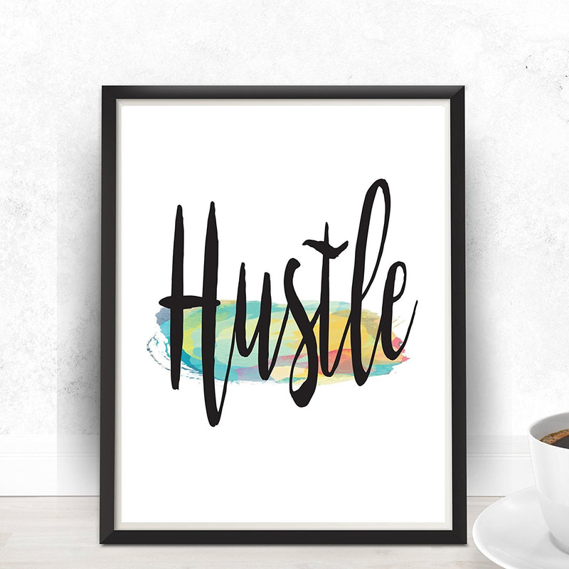 Hustle Watercolor Art Print - Unframed - Zuzi's