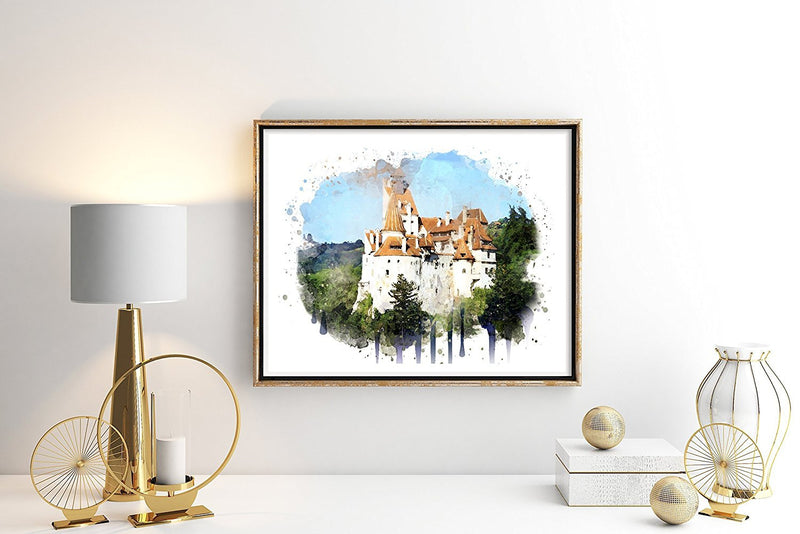 Dracula Castle Watercolor Art Print - Unframed - Zuzi's
